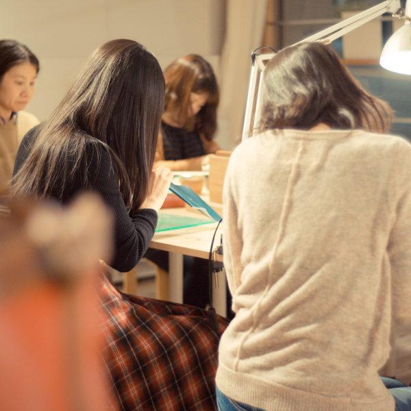 手縫いの革小物ワークショップ開催しました。