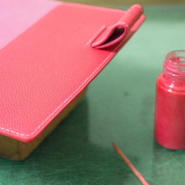 手帳カバーの制作過程