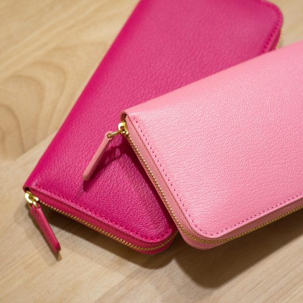 ローズコンフェッティとローズティリアンのお財布ができました。
