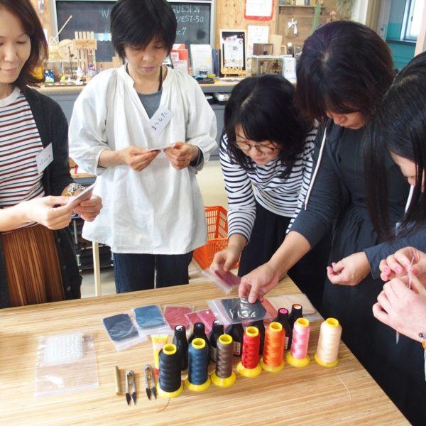 革小物ワークショップ@minneのアトリエ福岡を開催しました。