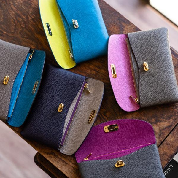 やわらかレザーフラップ長財布のカラーオーダー方法